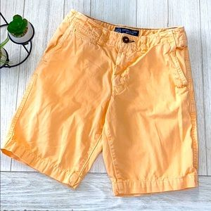 Teen boys American eagle orange shorts size 26